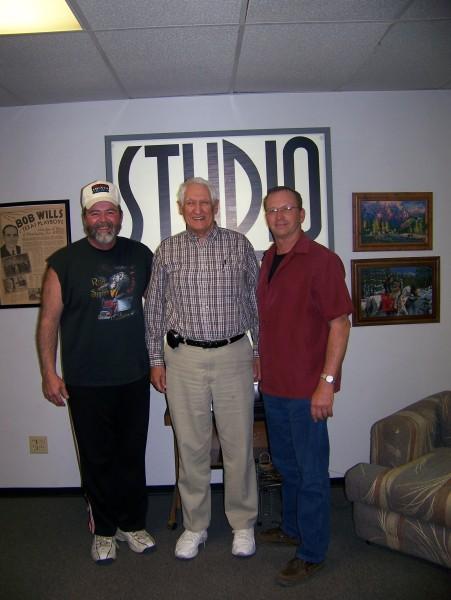 Big Al, Les Gilliam and Curt in Studio Seven